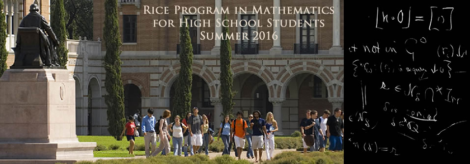 Rice Mathematics Program